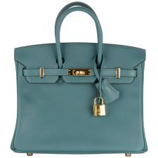 Hermes birkin 25 swift malachite