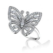 Van Cleef & Arpels. FLYING BUTTERFLY BETWEEN THE FINGER RING