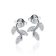 Tiffany & Co PALOMA PICASSO OLIVE LEAF EARRINGS