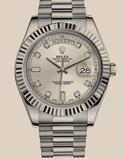 Rolex - 218239 Silver Diamonds