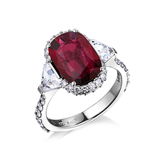 VERDI JEWELLERY КОЛЬЦО С РУБИНОМ 3.10 CT   PIGEON BLOOD