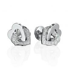 Cartier TWO HEARTS MOTIF EARRINGS