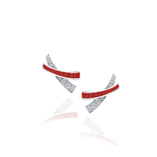 GRAFF KISS RUBIES & DIAMONDS EARRINGS