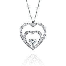 GRAFF DOUBLE HEARTS PENDANT
