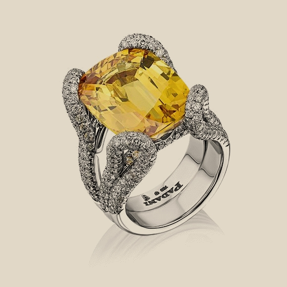 КОЛЬЦО NO NAME - 19.00 CT STRONG ORANGE YELLOW/VVS2