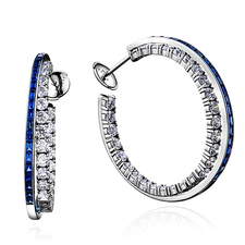 GRAFF DOUBLE HOOP EARRINGS