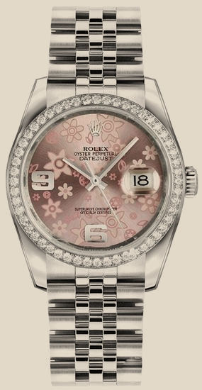 Rolex - 116244 Pink Floral Dial Oyster