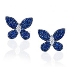 GRAFF PAVE BUTTERFLY, SAPPHIRE, WHITE GOLD.