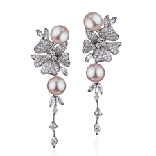 DAMIANI FIORI DARANCIO EARRINGS
