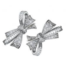 GRAFF RIBBON BOW MOTIF DIAMOND EARRINGS