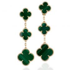 Van Cleef & Arpels. MAGIC ALHAMBRA.MALACHITЕ 3 MOTIFS
