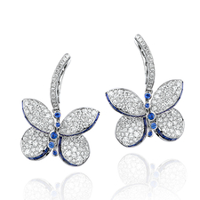 GRAFF BABY PRINCESS BUTTERFLY EARRINGS