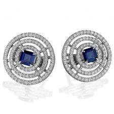 GRAFF BULLSEYE SAPPHIRE EARRINGS