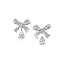 GRAFF BOW BAGUETTE CUT EARRINGS