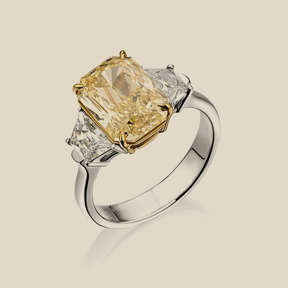 КОЛЬЦО NO NAME - 5.14 CT FANCY YELLOW/VS2